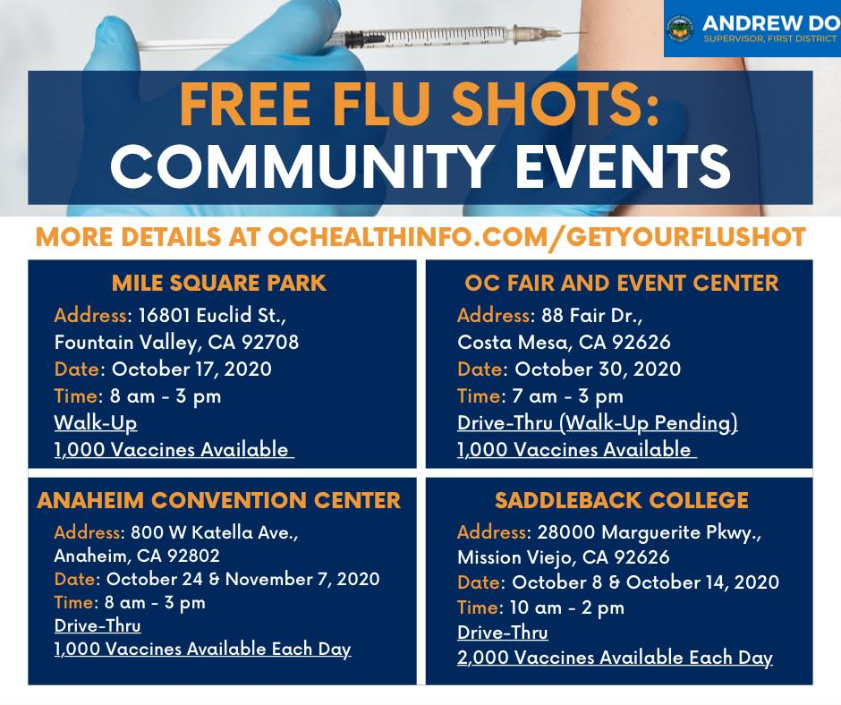 Free Flu Shot Clinic Mile Square Park