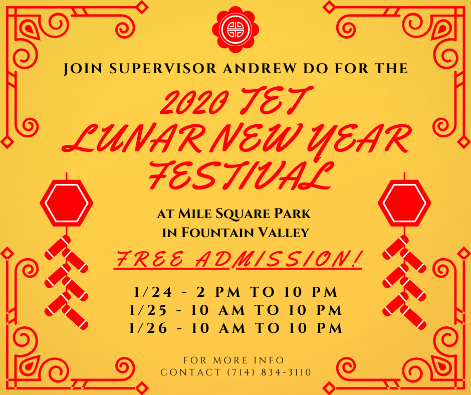 Supervisor Andrew Do Hosts Annual Lunar New Year Festival at Mile Square Park