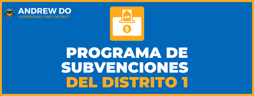 District 1 Grant Program Spanish