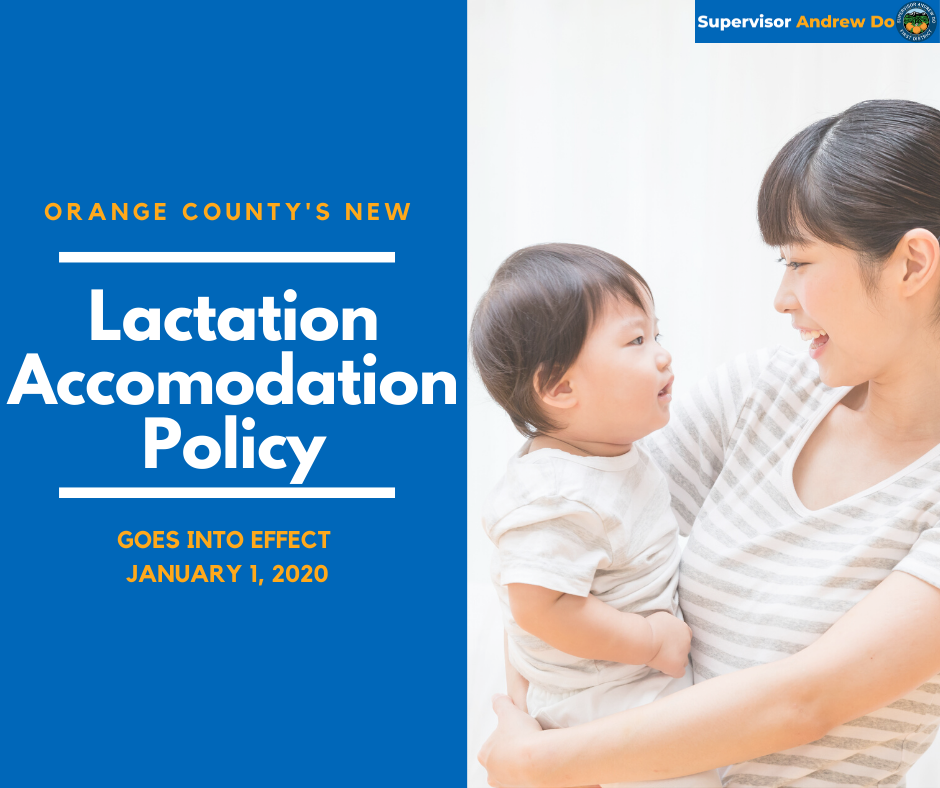 Orange County Will Provide Lactation Rooms in County Facilities Starting in 2020
