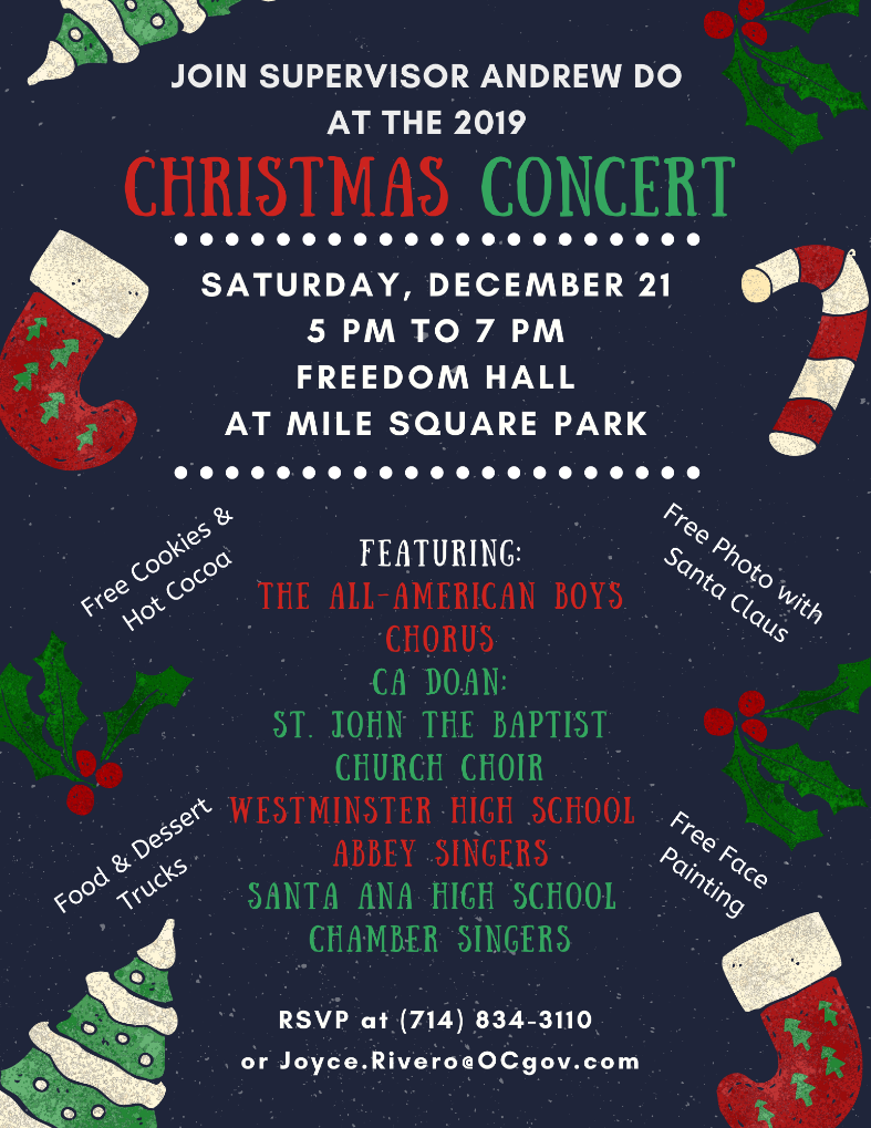 2019 Christmas Concert at Mile Square Park