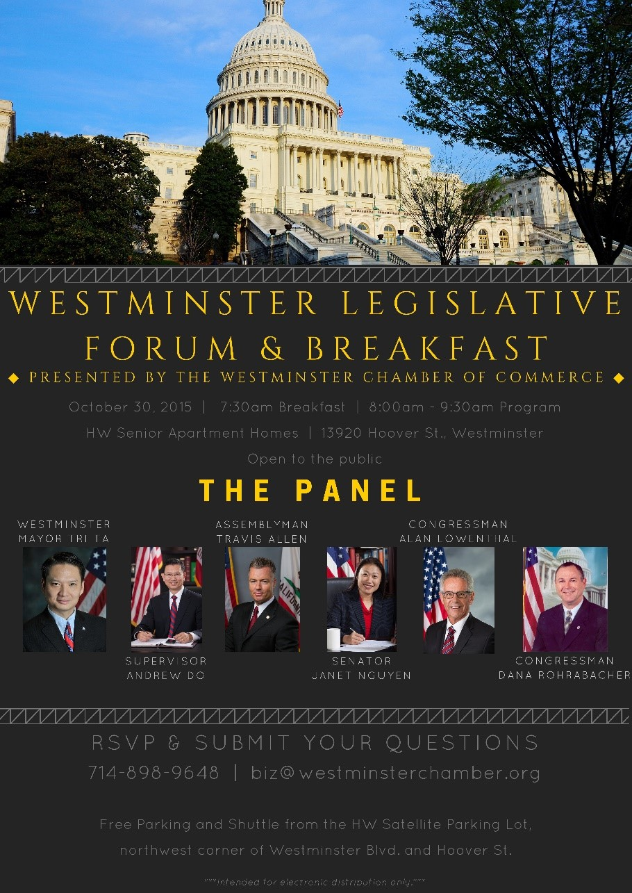 Westminster Legislative Forum & Breakfast