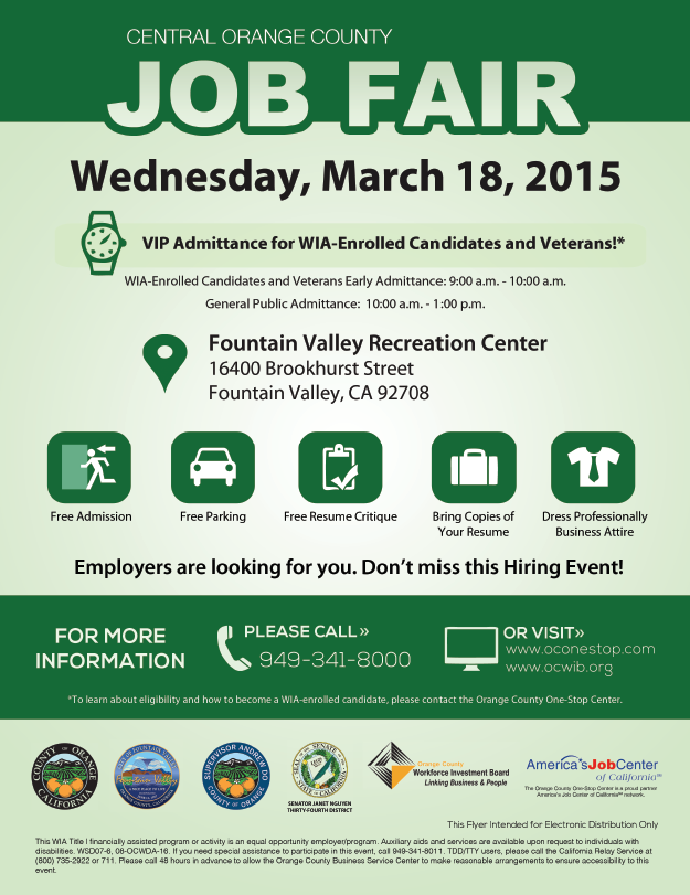 Central OC Job Fair 2015