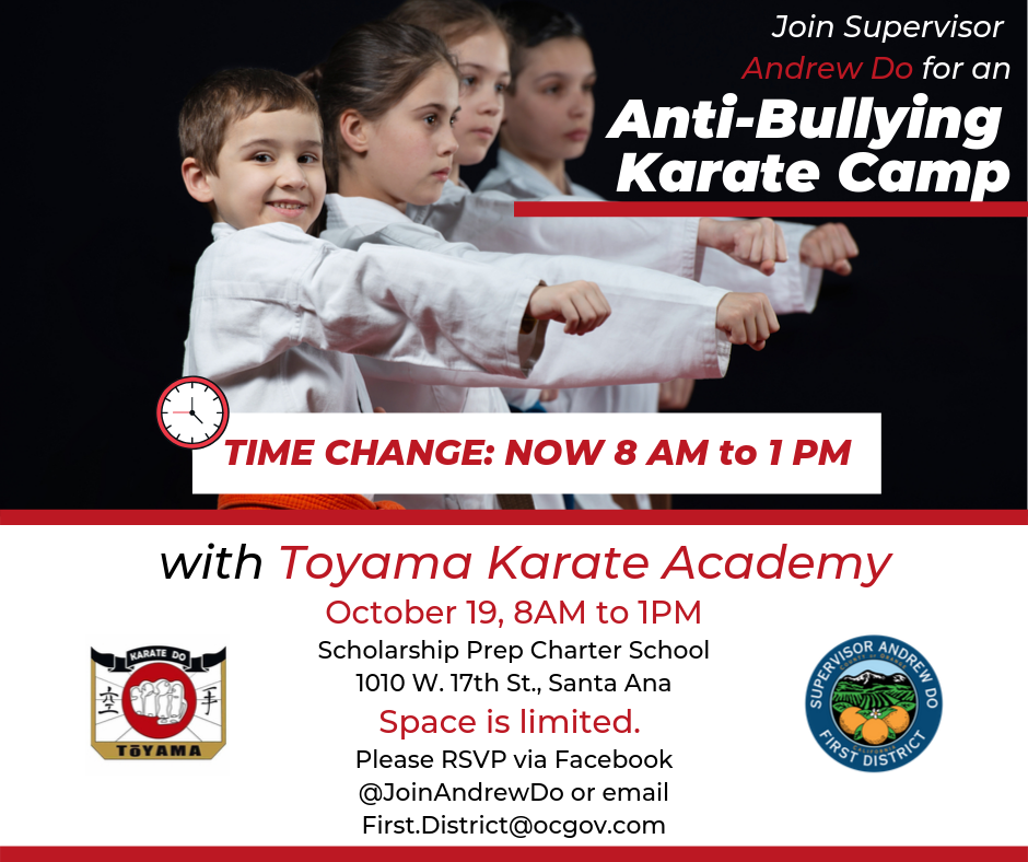 Anti-Bullying Karate Camp
